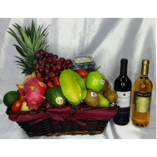 Mid Autumn Festival Fruits Hamper with Red and White Wine